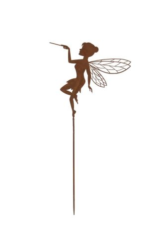 Fairy Garden Stake with Rusty Finish