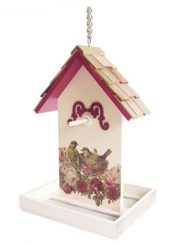 Wild Bird Feeder with a lovely Red Raspberry Nest and Bird Printed Design