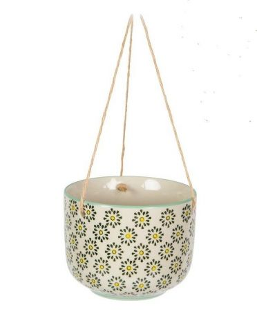 Ria Ceramic Hanging Pot with Sun Design