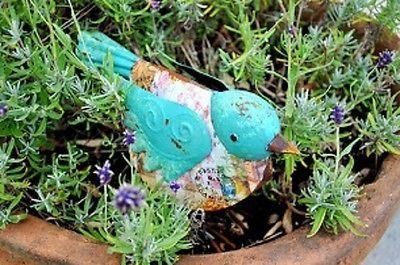 Californian Dove Metal Painted Garden Ornament.
