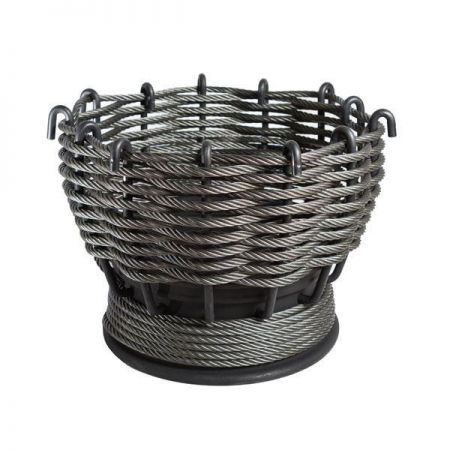 The Smelter Steel Woven Outdoor Garden Fire Pit