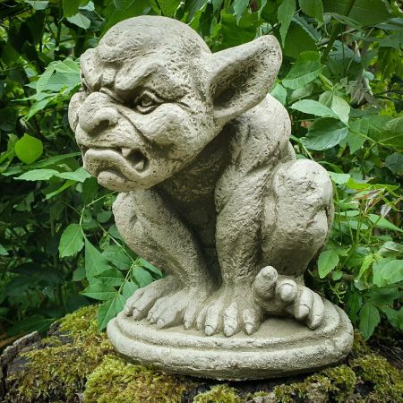 Grimacing Gargoyle Garden Ornamentmade from Reconstituted stone