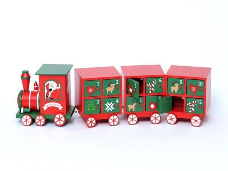Handcrafted Wooden Advent Calendar of Train