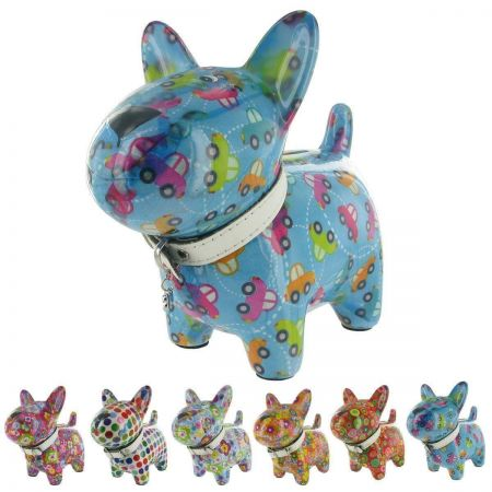 Pomme-Pidou Ceramic Standing Dog Money Box.  New Design. Quirky and Collectable Oscar LIGHT PINK x1