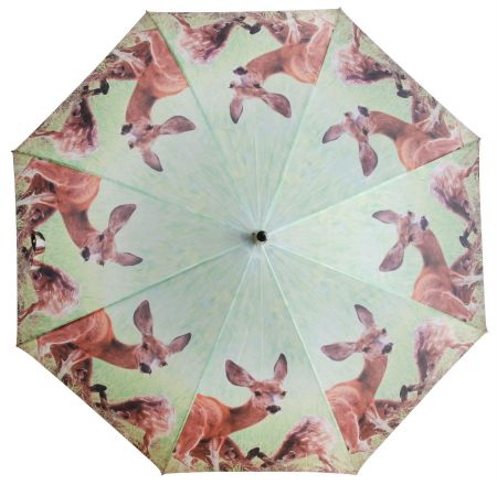 Large Umbrella with Picture of Deer. 120cm diameter Brolly.