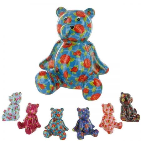 Pomme-Pidou Ceramic Teddy Bear Money Box.  Available in several vibrant colours