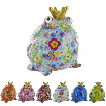 Pomme-Pidou ceramic Freddy Frog Money Box.  Brightly coloured, funky and collectable. YELLOW