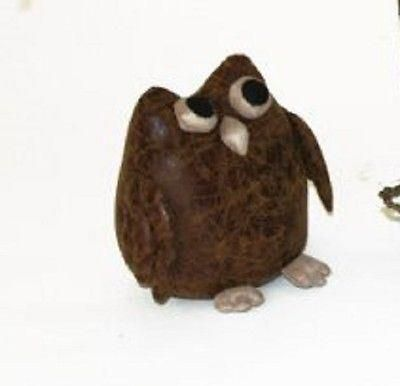 Faux Leather Owl Doorstop - adorable