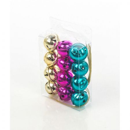 Bell Christmas Tree Baubles in Carnival Colours Box of 12. Buy one Get one Free