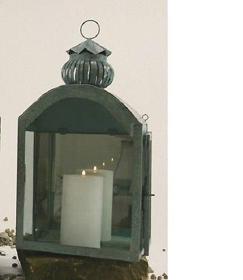 Large Mirrored Verdigris Wall Lantern.  Lovely for a conservatory