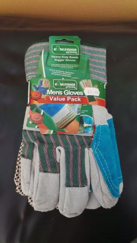 Value Pack of Mens Gardening Gloves - x3 Pairs