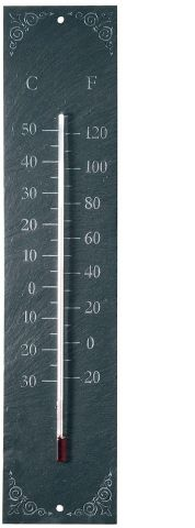 Large Classic Large Slate Garden Thermometer.  45cm