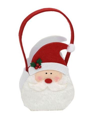 Very Cute Santa Felt Gift Bag.  Party bag.