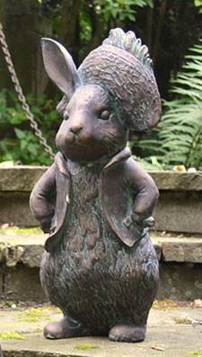 Benjamin Bunny Garden Ornament Cast in Resin. 49cm tall