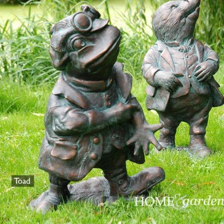 Toad from Wind in the Willows Garden Ornament Cast in Resin. 50cm tall