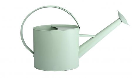 Metal Outdoor Watering Can in Soft Sage Colour
