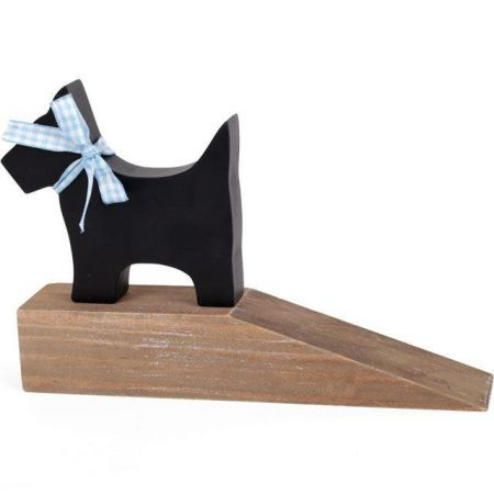 Scotty Dog Wooden Door Stop