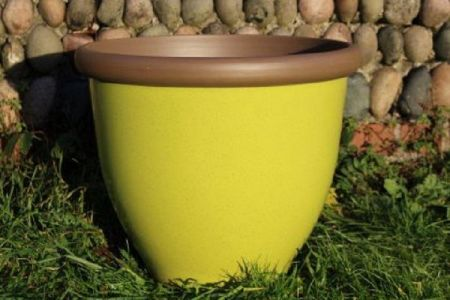 Belair Plant Pot with Removable Reservoir  40cm Diameter Apple Green