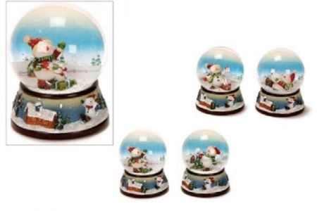 Quality Glass German Snowman Snow Globe. Christmas Tree