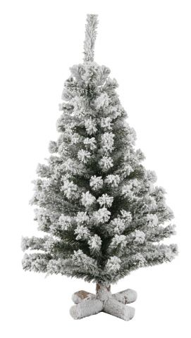 Table Top Frosted Christmas Tree with wooden base 60cm tall