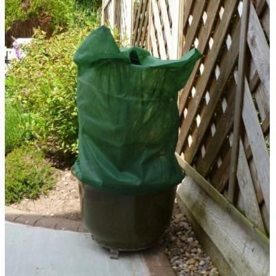 Plant protection fleece bag. With drawstring to secure to the base of the plant