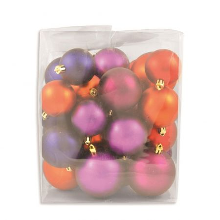 Outdoor Baubles Value Pack.  Contains 31 in  Matt and Gloss, 5, 6 & 7cm