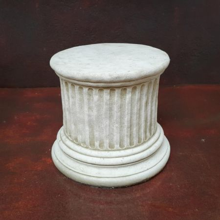 Short Stone Plinth Garden Ornament Height 23cm  Reconstituted stone