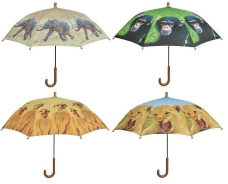 Childrens Umbrella with African Animals On. Chimp