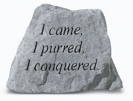 I came I purred Pet Cat Memorial Stone. 8 x 9cm approx.