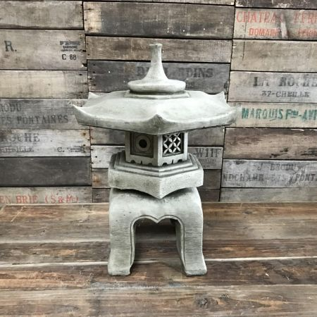 Oriental Kyoto Pagoda Lantern Made From Reconstituted Stone Garden Ornament Tendai Design