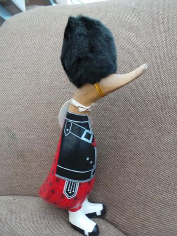 Professional duckling from DCUK. Scots Guard in traditional uniform with furry hat