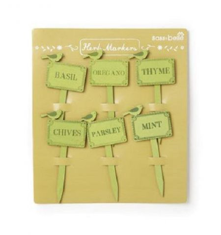 Set of 6 Wooden Bird Herb Markers