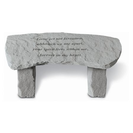 Stone Memorial Bench with Inscription Gone yet not forgotten...