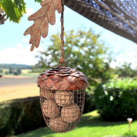 Acorn Hanging Fat Ball Feeder. Feed the wild birds.