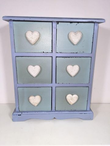 Vintage Chic Jewellery Chest of Drawers