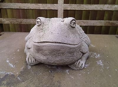 Bullfrog Garden Ornament. Reconstituted stone.  Superb Details.