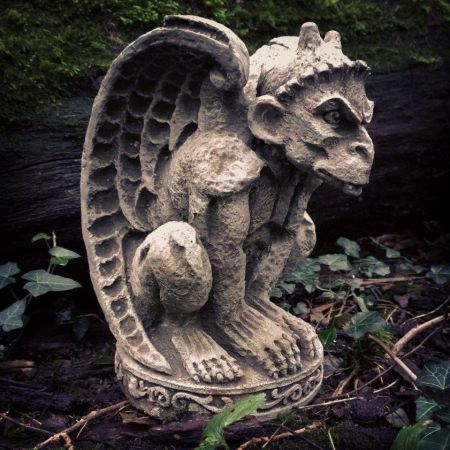 Notre Dame Gargoyle Garden Ornament made from Reconstituted Stone