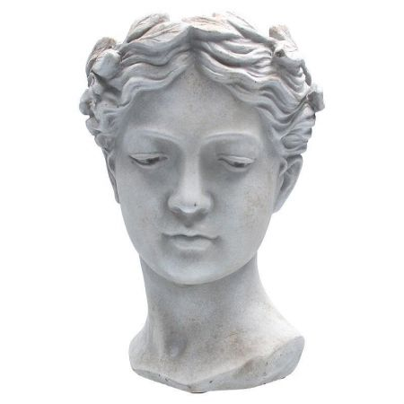Goddess Head Planter Statue made from Reconstituted Stone Large Size
