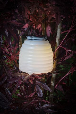 Wasp Catcher with LED Lighting. Solar Powered WHITE