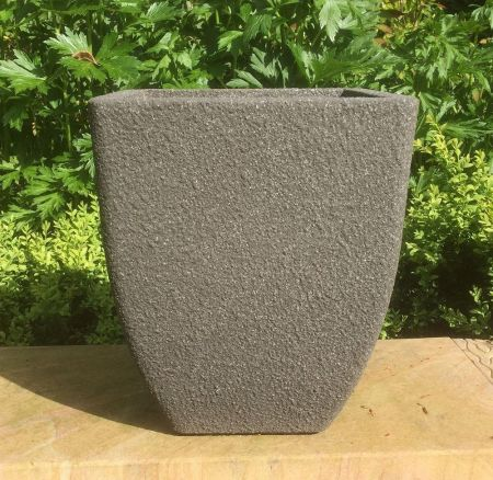 Grey Stone Square Planter  Plant Pot 28 x 35cm