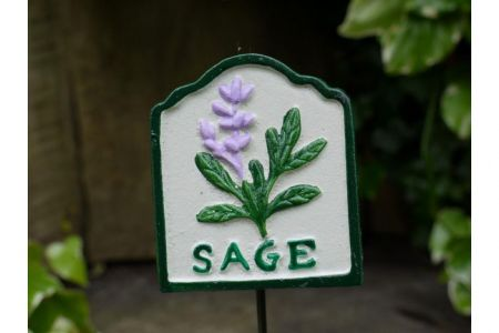 Set of 3 Metal Herb Markers SAGE PARSLEY THYME