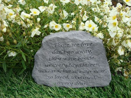 Those We Love Dont Go Away Memorial Stone.  16 x 11cm approx