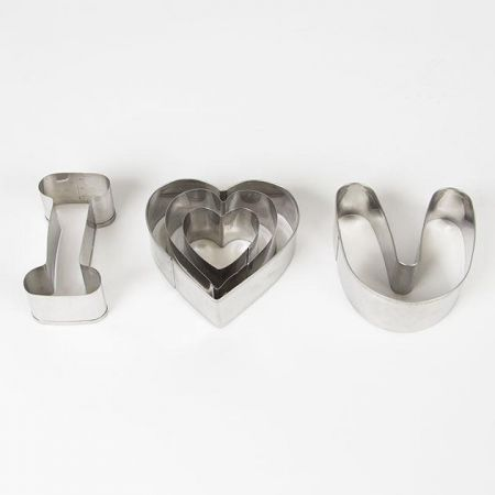 I Love You Cookie Cutter 5 Piece Set