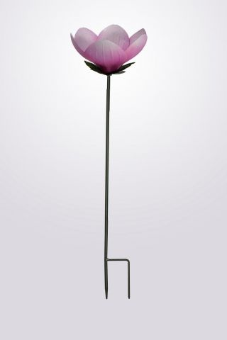 Decorative Wild Bird Feeder Stake in the shape of a Magnolia Flower