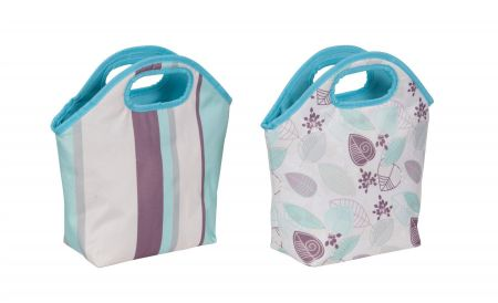 Insulated Cooler Tote Lunch Bag. STRIPES