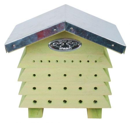 Wooden Beehive Bee House with Zinc Roof.  Insect Hotel for the garden