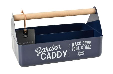 Garden Caddy with Beech Handle from Burgon & Ball BLUE colour