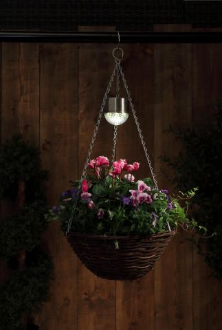 Hanging Basket Lights Solar Pwered Set of 2
