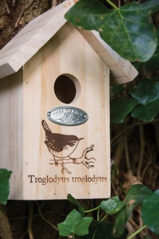 Wren Bird House Nest Box Made from Wood