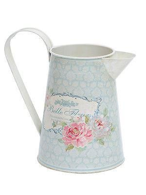 Chintz Deco metal jug. French country house design, lovely for flowers